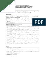 Nagaraj Siddeshwar Curriculum Vitae
