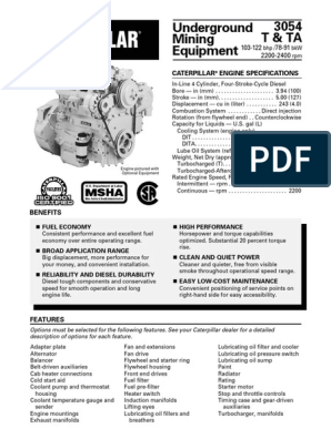 CATERPILLAR 3054   Horsepower   Diesel Engine