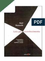 Honneth, Axel - Luta Por Reconhecimento