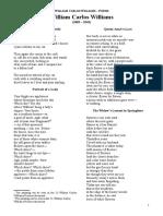 21 William Carlos Williams Poems