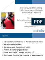 MicroEnsuredelivering Microinsurance Through Innovative Channels Peter Gross