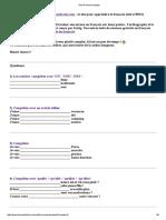 Test de Niveau Français 1