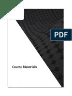 Course Materials Final