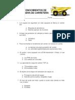 PRUEBA DE CONOCIMIENTOS DEL CAMION CATERPILLAR 785C.doc