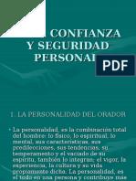 b.- La Confianza y Seguridad Personal