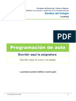 Plantilla Programacion de Aula