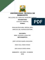 2 Parcial Trabajo Grupal n2 Evaluacion Rural Rapida y Analisis Del Agroecosistema Ecologia 3 Nivel Agropecuaria