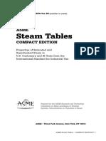 ASME Steam Table