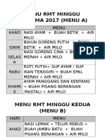 Menu RMT 2017