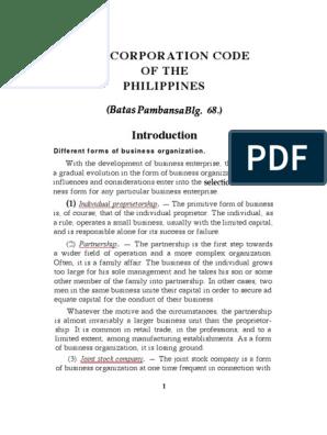 Corporation Code- De Leon | Legal Personality | Corporations