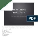 Measuringsecurity.tutorial