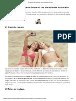 25 Consejos Para Hacer Fotos en Tus Vacaciones de Verano - ComputerHoy.com