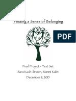 finding a sense of belonging text set