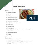 Recetas de Comida Típica de Guatemala