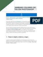 PhotoShop Como Cambiar Colores de Objetos