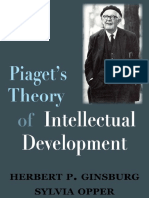 Piagets Theory of Intellectual Development