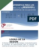 2. Determinante Sistemas de Ecuaciones Lineales
