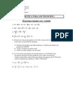 Ejercicios Propuestos Ecuaciones Lineales