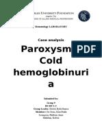 Paroxysmal Cold Hemoglobinuria