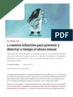 4 Cuentos Infantiles Para Prevenir y Detectar a Tiempo El Abuso Sexual