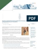 Preguntas y Respuestas Sobre El Ejercicio Profesional de La Psicología en España, Tras La Aprobación de La Ley de Consumidores