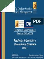 Resolución de Conflictos y Generación de Consensos (Parte I)