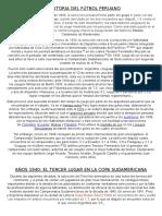 La Historia Del Fútbol Peruano