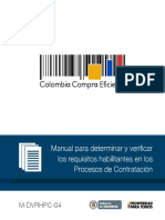 Manual Para Determinar y Verificar Los Requisitos Habilitantes en Los Procesos de Contratacion