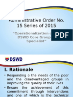 Administrative Order No. 15