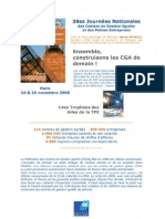 Compte-Rendu - Ensemble Construisons Les CGA de Demain - Novembre 2008