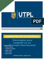 Estrategias Para Competir en Mercados Internacionales..