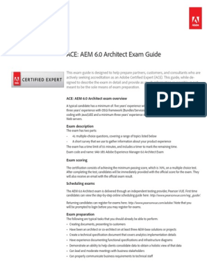 AEM 6 Architect Exam Questions | Test (Assessment) | Use Case