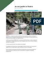 Toma Comando Otro Pueblo en Madera Noticias