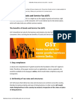 10 Benefits of Goods and Service Tax (GST) - Clear IAS