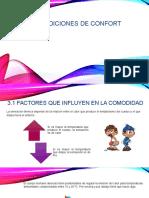 Factores Que Influyen en La Comodidad
