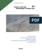 Manual de SLOPE 2007
