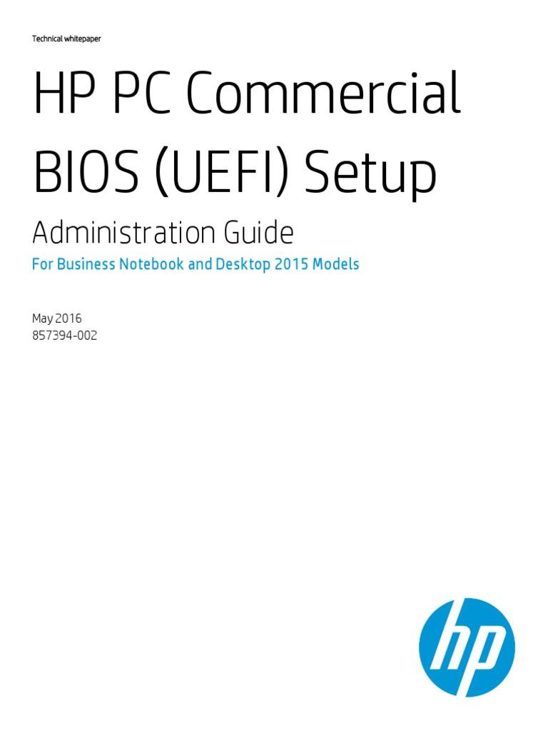 HP PC Bios Setup | Bios | Booting