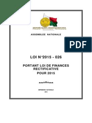 Loi N 2015 026 Fr Dette Publique Deficit Budgetaire