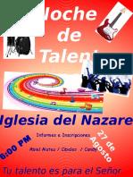 Cartel Noche de Talentos2