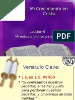 Mi Estudio Biblico Personal