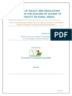 Policy Report on Microgrid