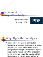 Chapter 6- Algorithm Analysis - Bernad Chen
