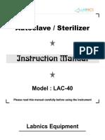 Autoclave LAC-40 Operate