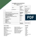 Book List 2013-14 Class I to X