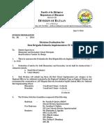 Division Memorandum No. 38 s. 2014