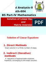 Lecture 1. Solution of Linear Equations