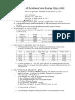 Highlights of Tamilnadu Solar Energy Policy 2012.docx