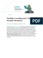 Machine Learning and Cyber Security Resources