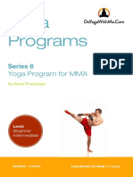 Yoga Program for MMA