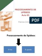Lipc3addeos Processamento de Lipc3addeos Aula 03